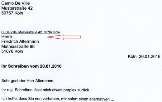 How to Set Out a Formal Letter in German HubPages - formal letter of complaint sample