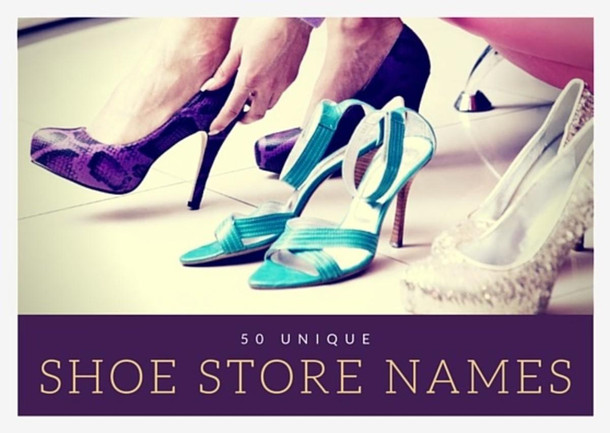 50 Unique Shoe Store Names Bellatory