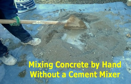 8 Steps To Mixing Concrete By Hand Without A Cement Mixer