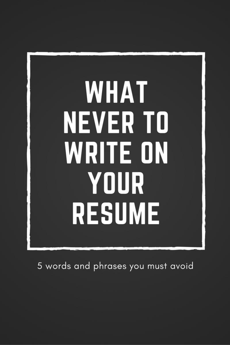 resume words to avoid - Militarybralicious - resume words to avoid