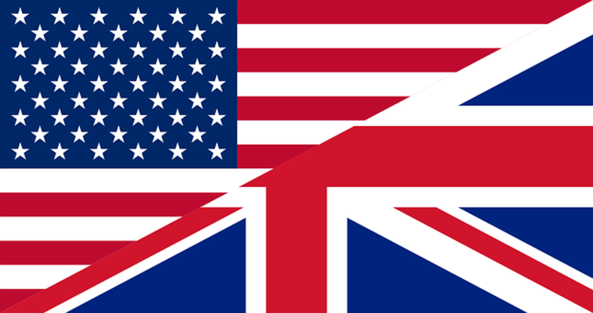 Differences Between British and American English Owlcation - american flag background for word document