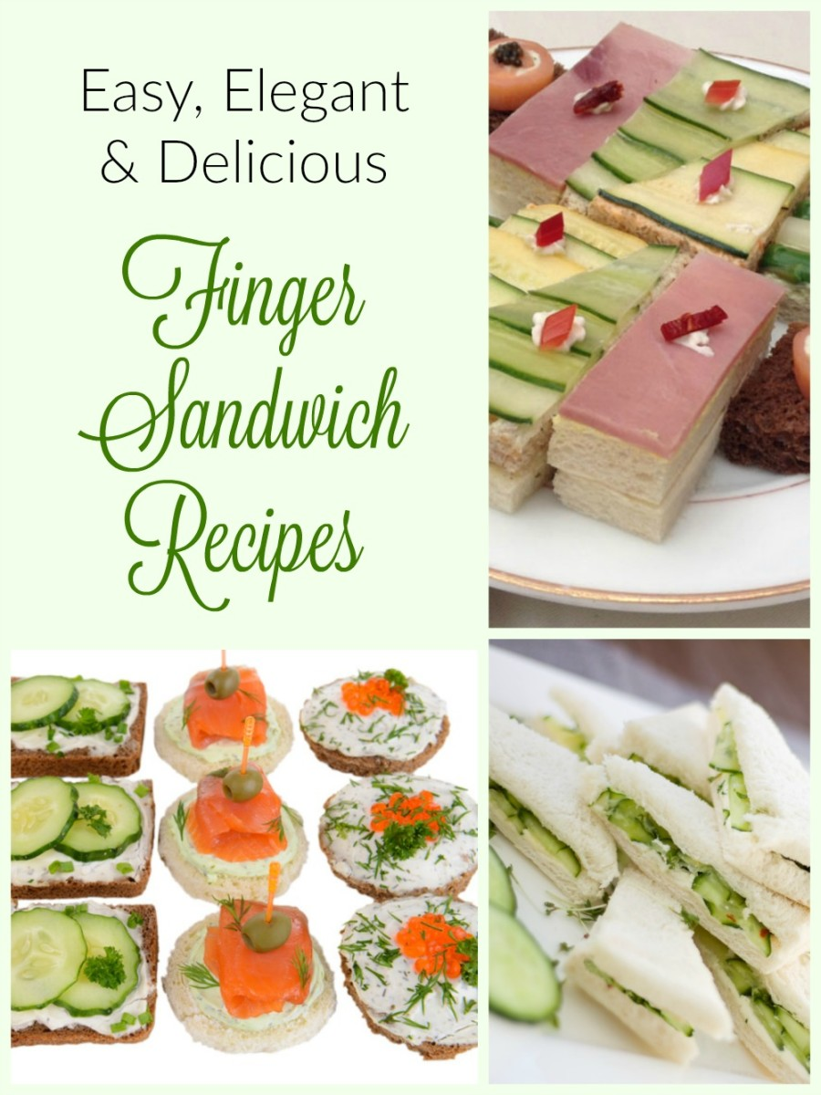 Tea Sandwiches AKA Finger Sandwiches Delicious Recipes for Special