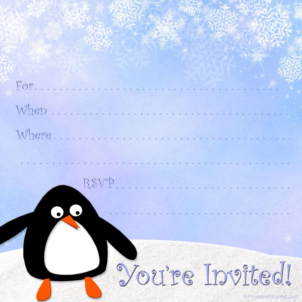 snowflake invite template