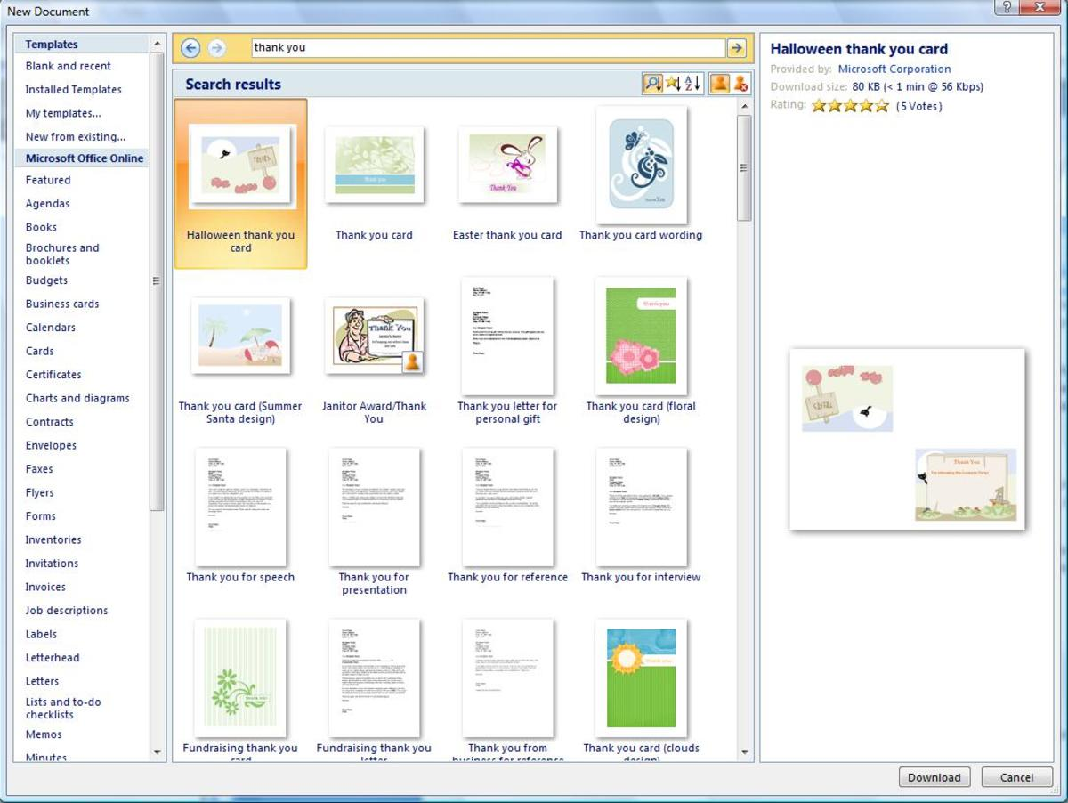 How to Make Cards on Microsoft Word HubPages - how to make a thank you card in word
