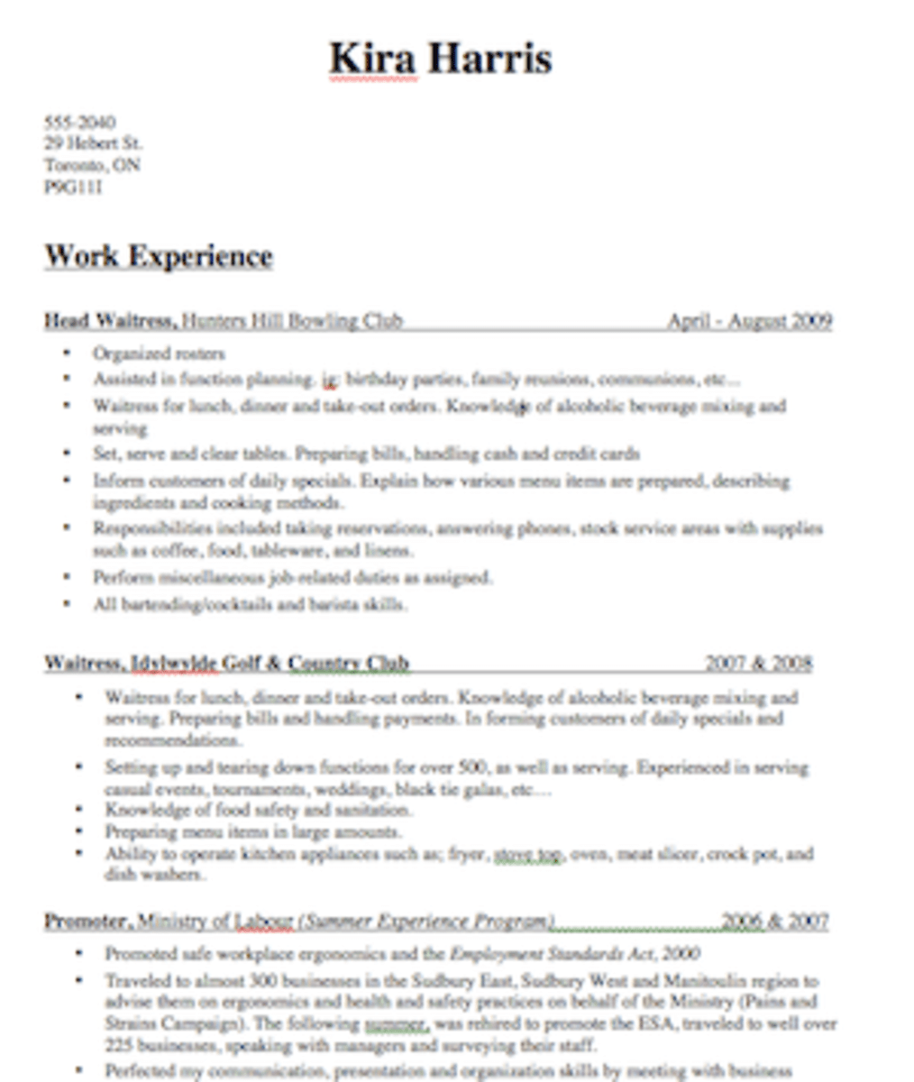 professional server bartender templates to showcase your talent - resume for a bartender