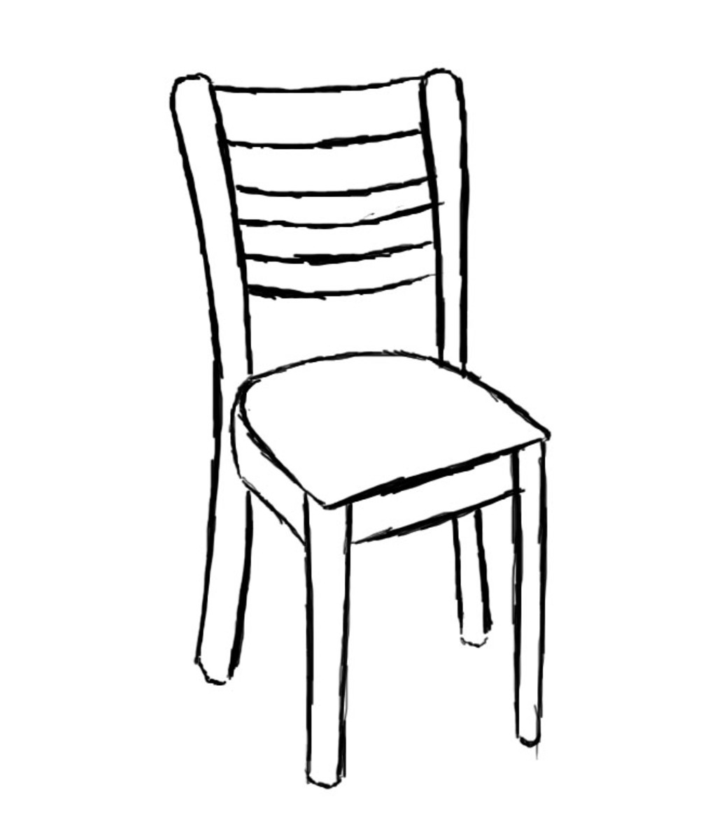 How To Draw A Chair Feltmagnet