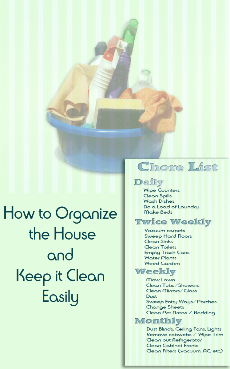 How to Easily Organize the House and Keep It Clean HubPages