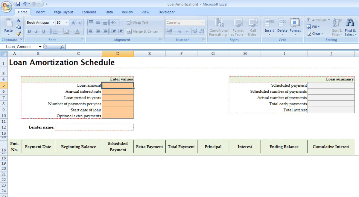 Using Templates in Excel 2007 as a model to save you work and time - excel breakeven chart