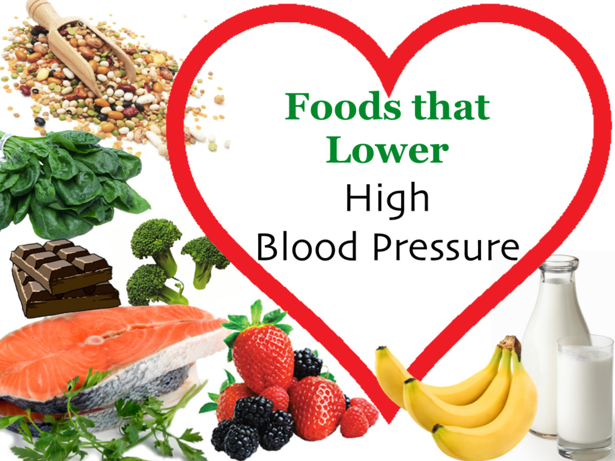 A List of Foods that Lower High Blood Pressure and Reduce - blood pressure chart