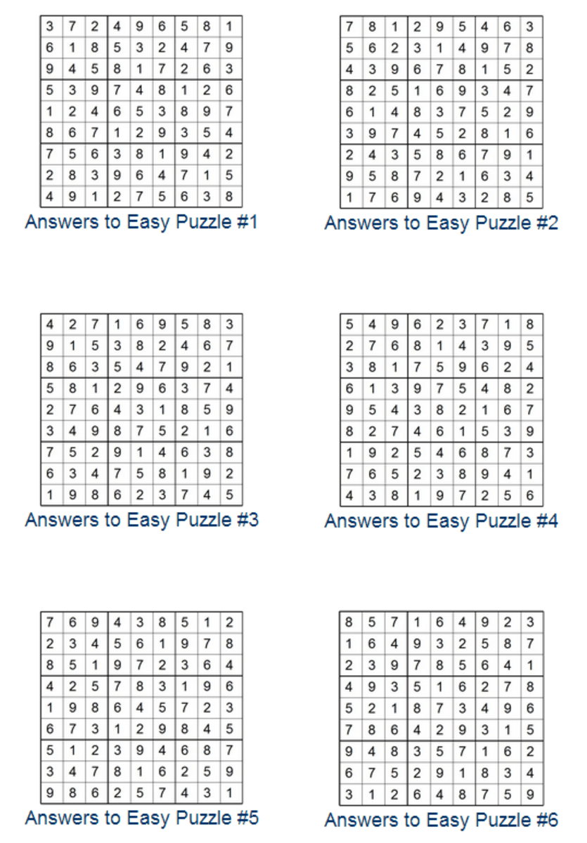 Print Sudoku Puzzles HubPages