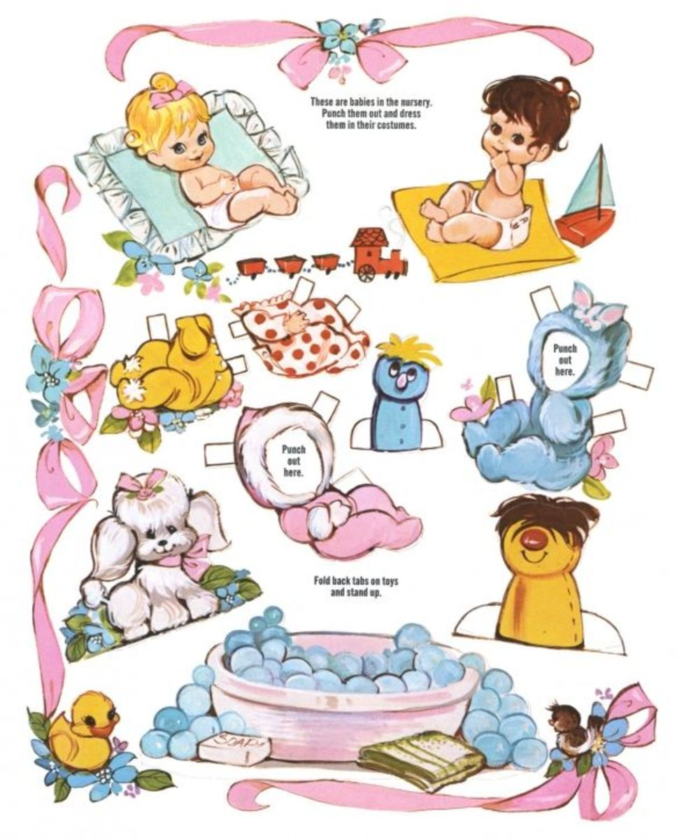 Printable Paper Dolls Free Paper Dolls and Clothes for Kids HubPages