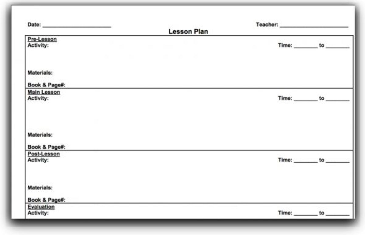 Collaborative Teaching Lesson Plan Template ~ Lesson plan template for primary school preparing better