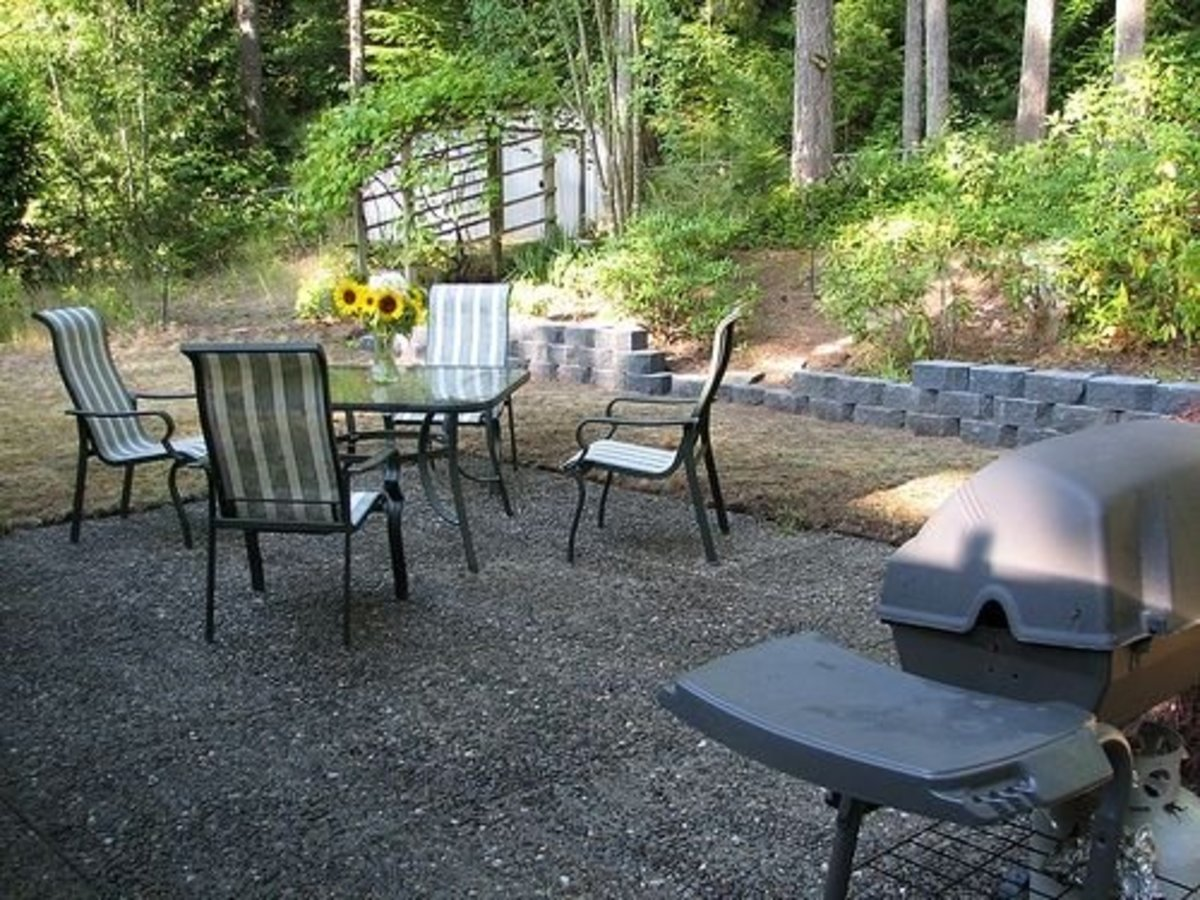 How To Build A Loose Material Patio Dengarden