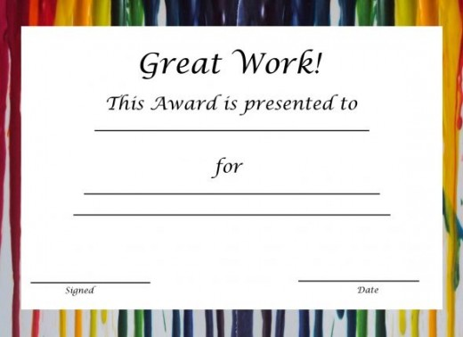 Free Printable Award Certificates For Kids HubPages - certificate template for kids
