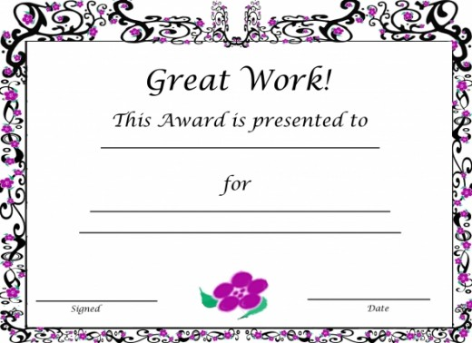 Free Printable Award Certificates For Kids HubPages - printable congratulations certificate