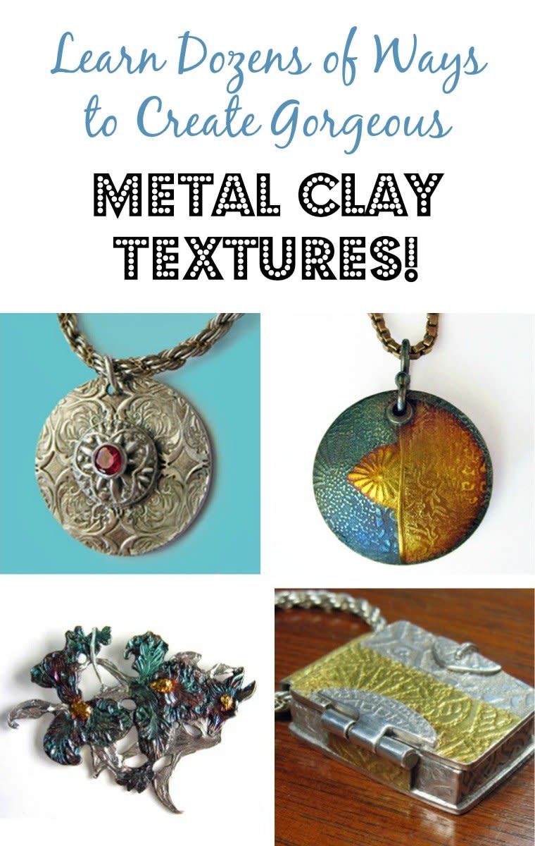How to Texture Metal Clay FeltMagnet