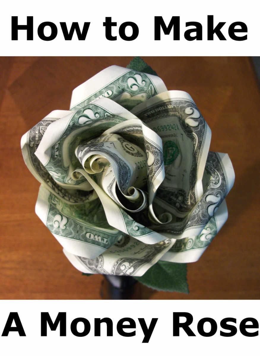 Geldscheine Falten Kreuz How To Make A Money Rose Feltmagnet
