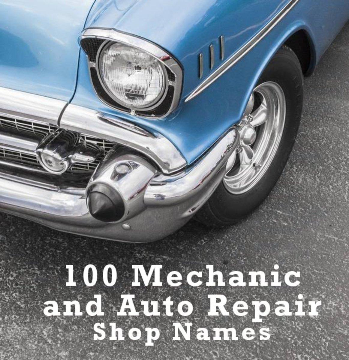 100 Mechanic and Auto Repair Shop Names ToughNickel
