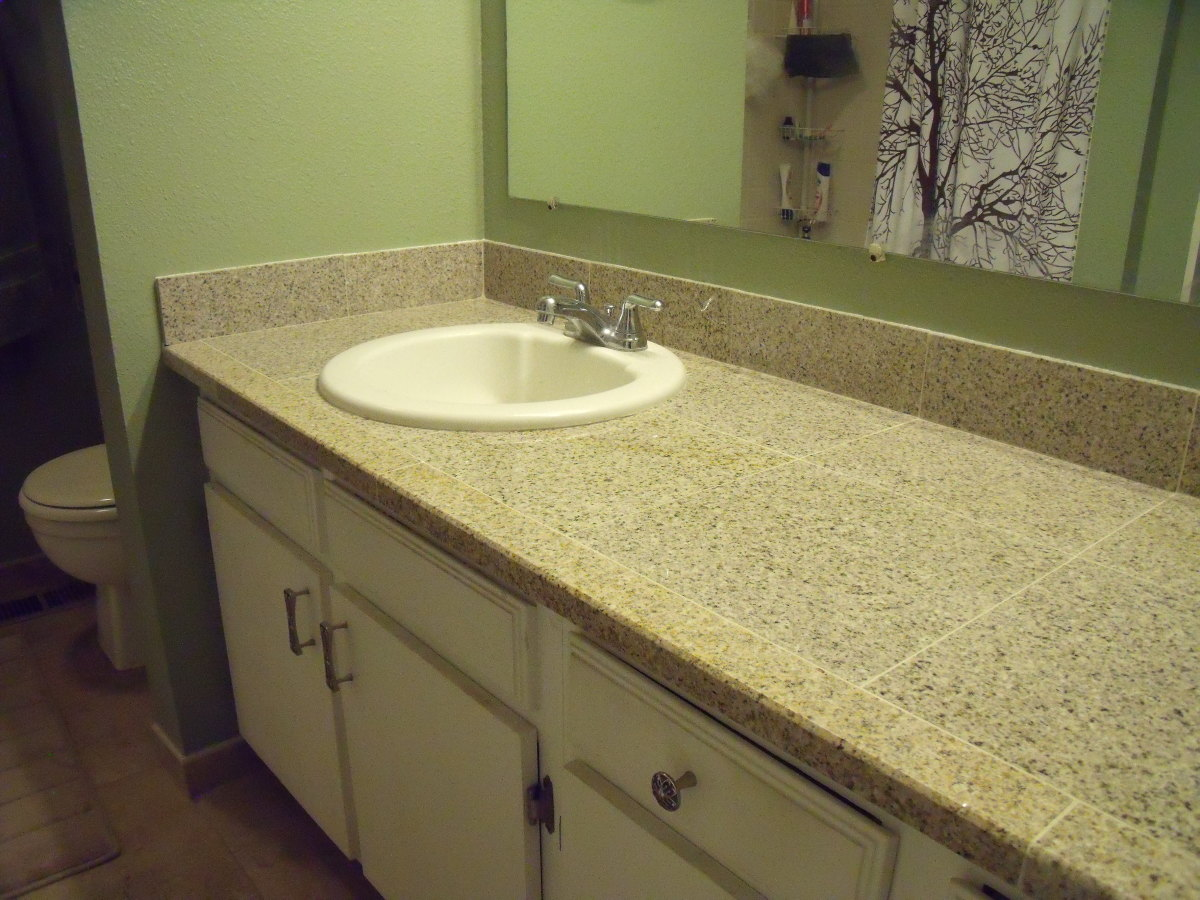 Replace Formica Countertop How To Replace A Bathroom Countertop With Granite Tile