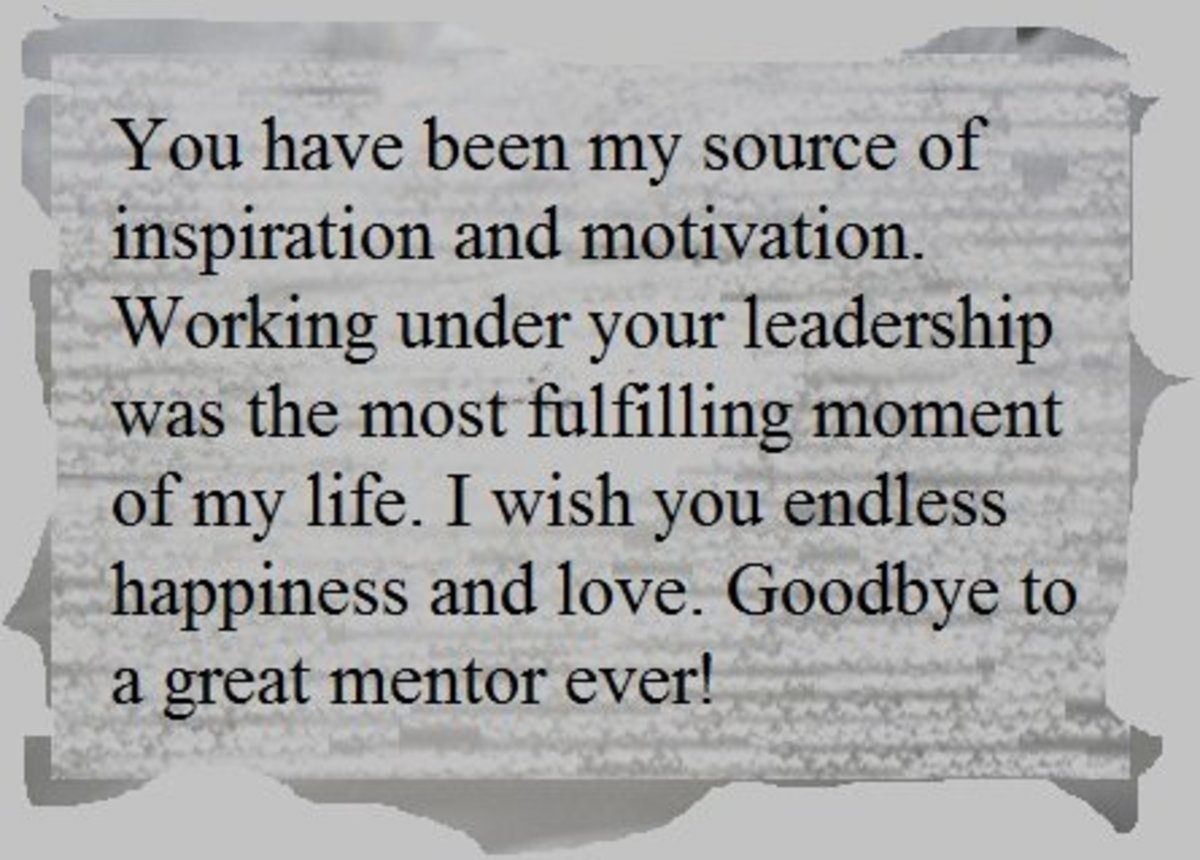 Farewell Message for a Teacher and Mentor Owlcation