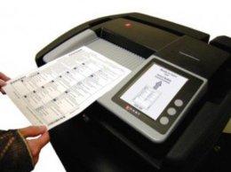 Typical paper ballot vote-scanning machine.