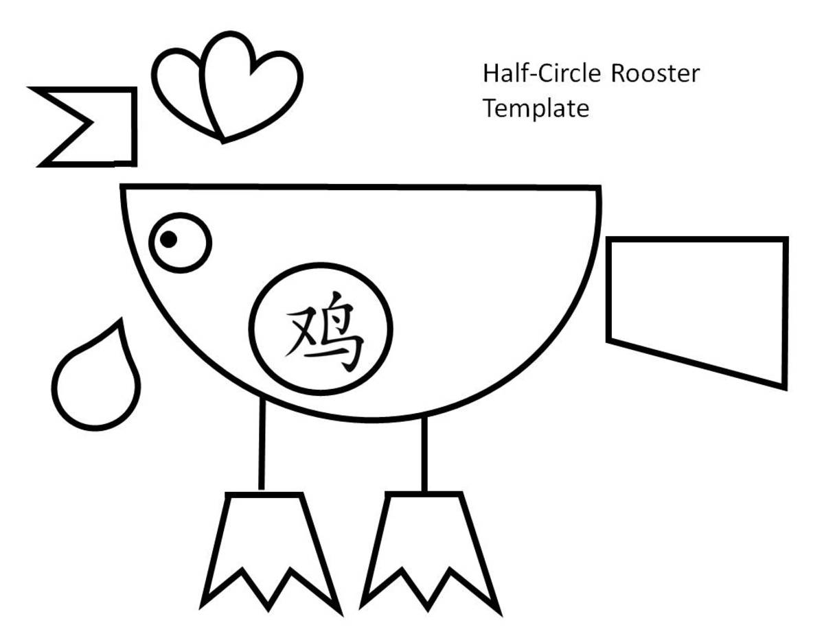 Printable Rooster Templates Kid Crafts for Chinese New Year Holidappy