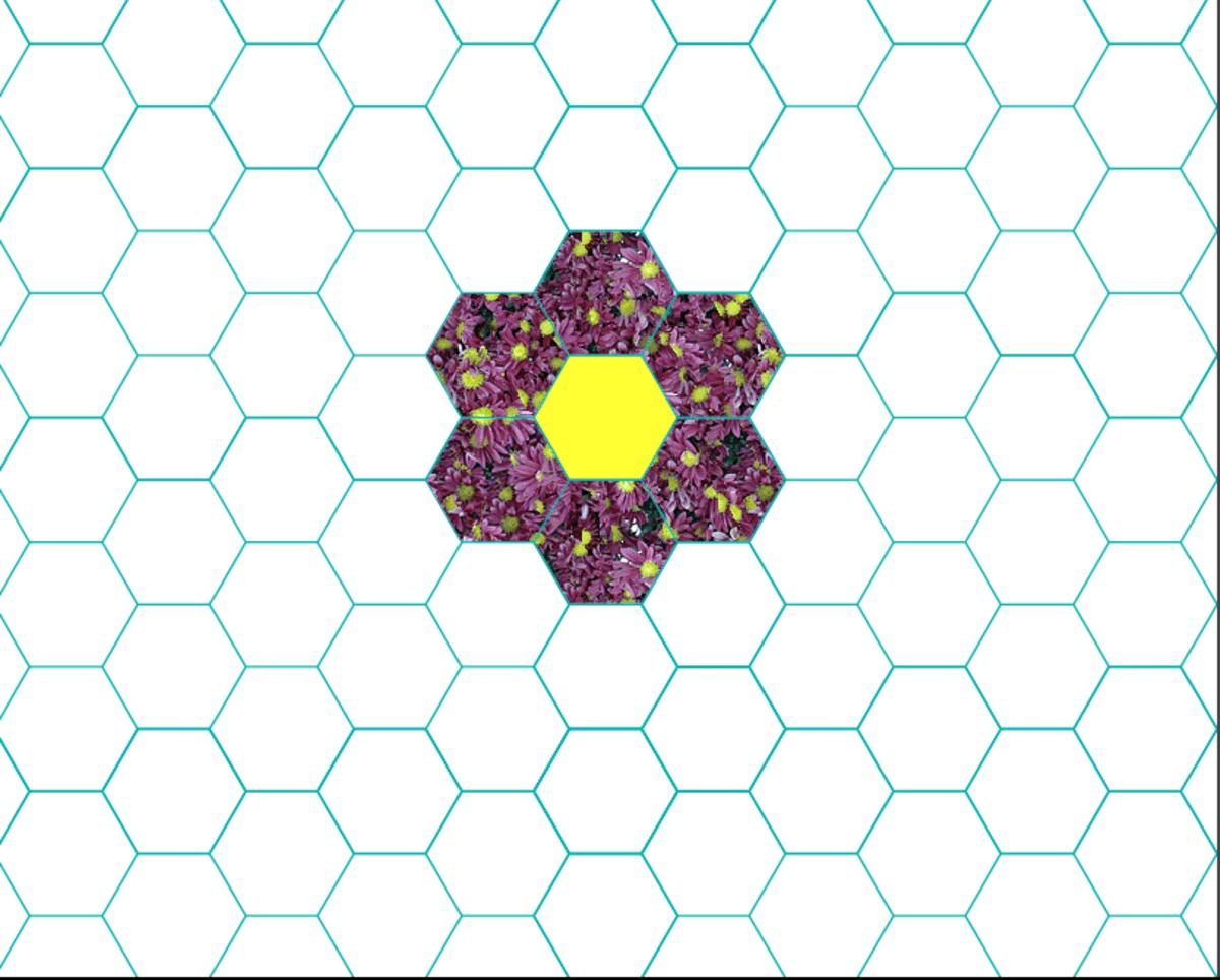 Patchwork Quilt Designs Hexagons FeltMagnet