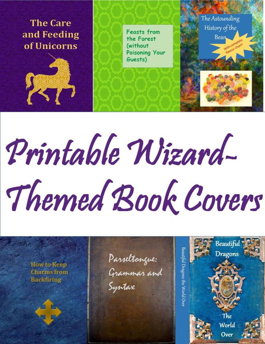 How to Make a Harry Potter Library Printable Wizard-Themed Book