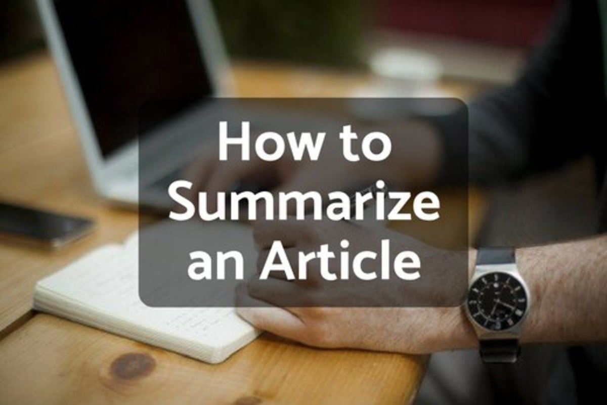 How to Write a Summary of an Article Owlcation