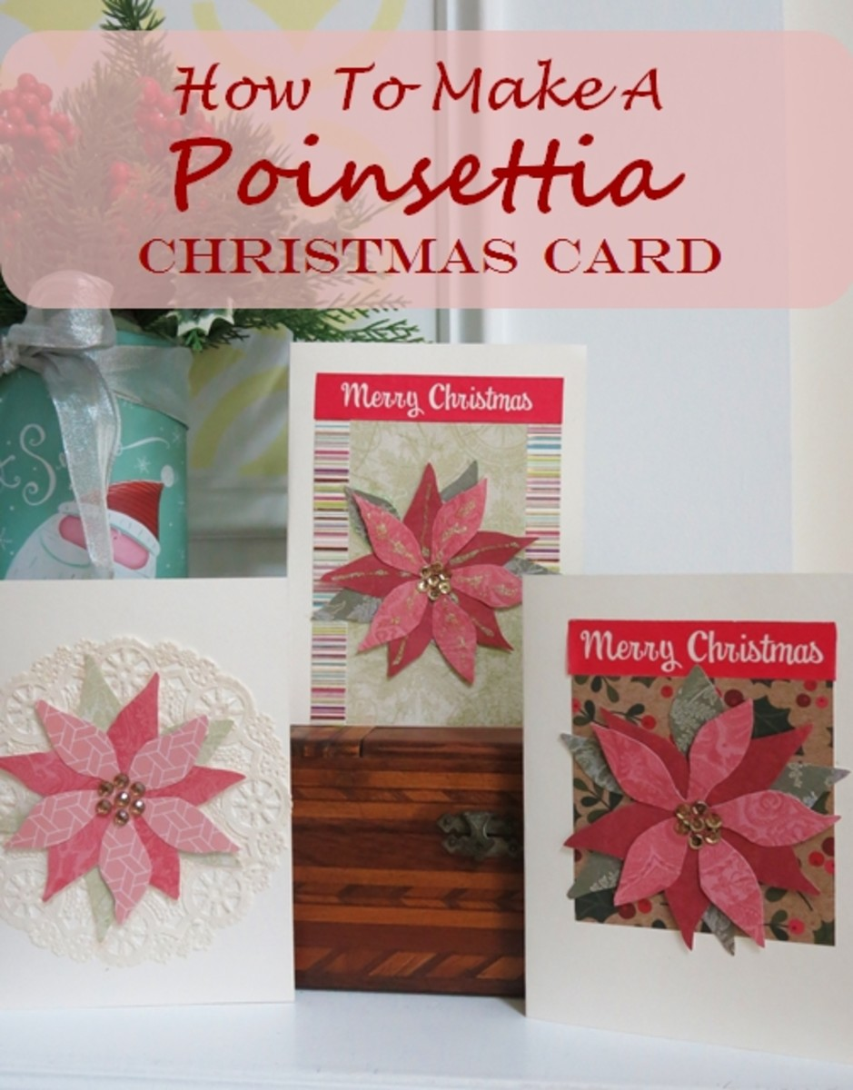 How to Make a Poinsettia Christmas Card Without Any Special