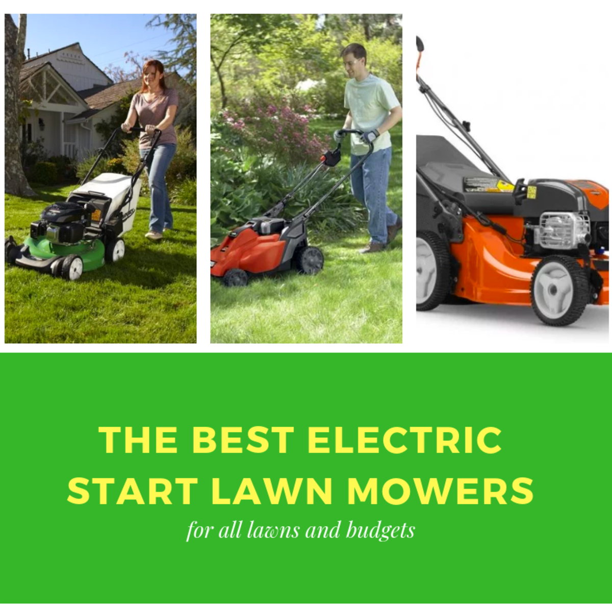 Electric Lawn Mower Sale Top 3 Best Electric Start Lawn Mowers 2019 Dengarden