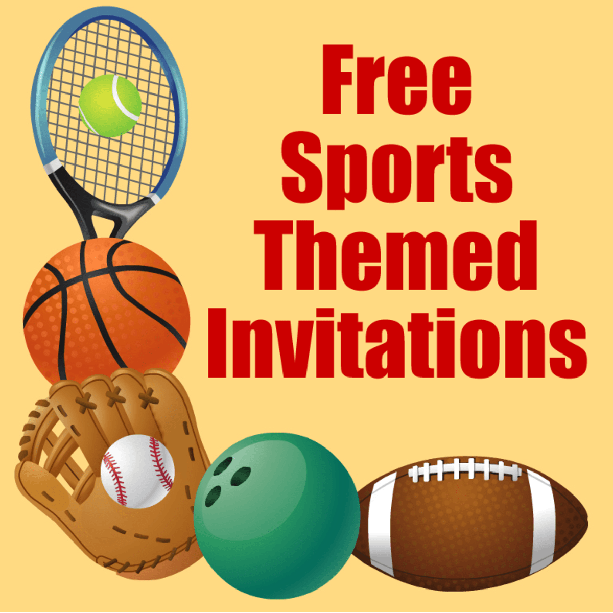 Free Printable Sports Birthday Party Invitations Templates HubPages
