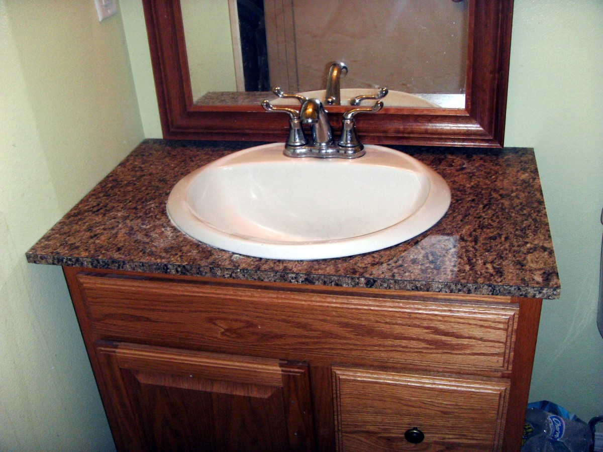 Best Countertops For Bathrooms How To Install Laminate Formica For A Bathroom Vanity