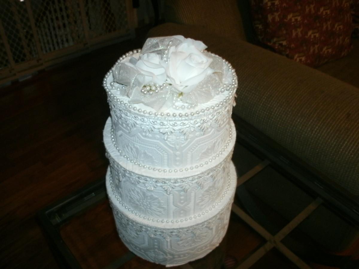 How To Make A Wedding Cake Card Box Holidappy
