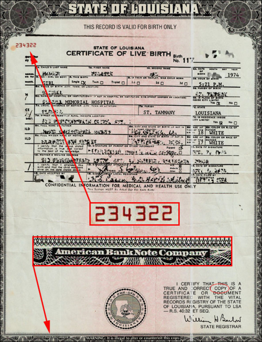 Cash In On Your US Birth Certificate!! HubPages - birth certificate