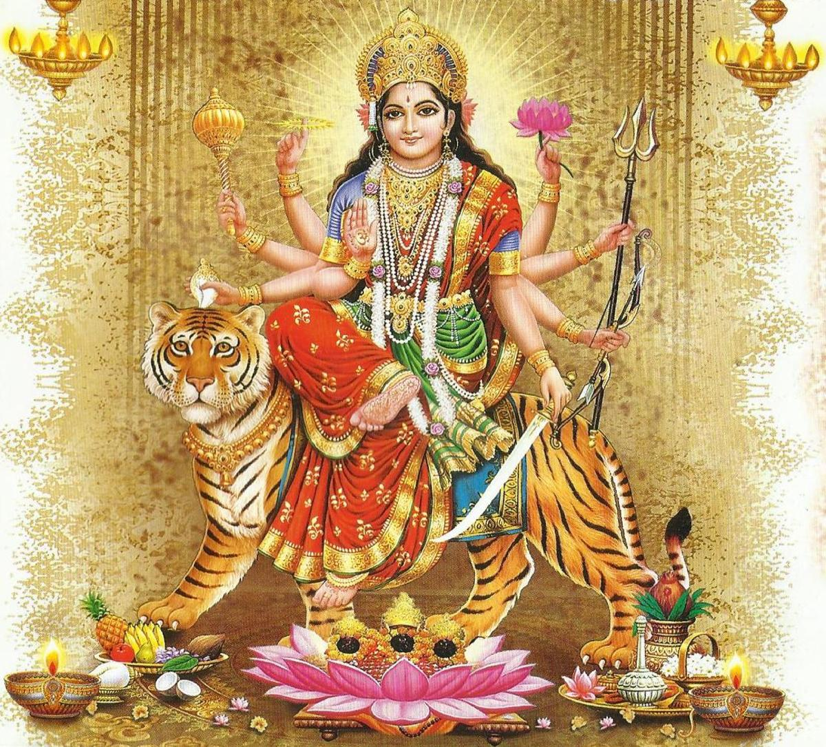 3d Wallpaper Jai Mata Di Mantras Of Goddess Durga The Universal Mother Hubpages