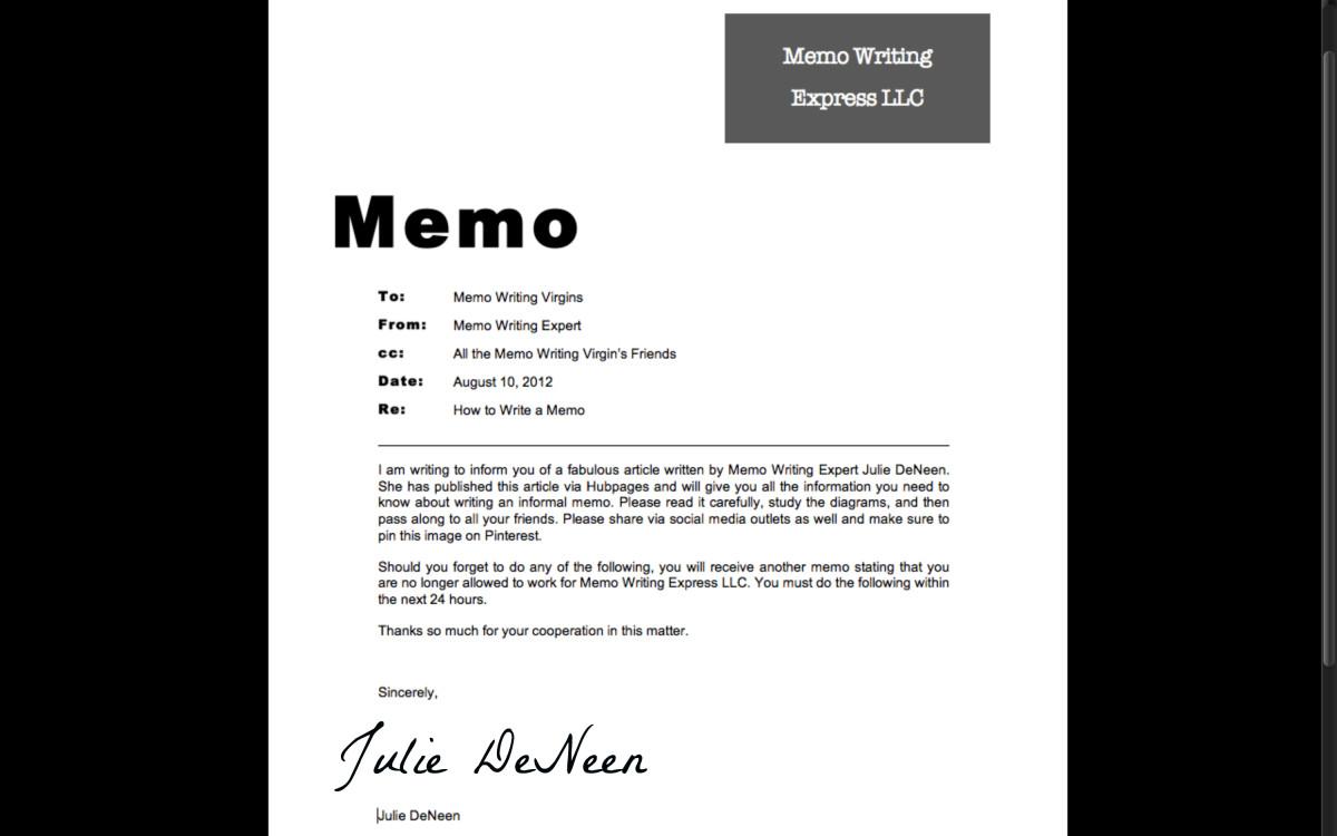 How to Write an Informal Memo ToughNickel - how to write a