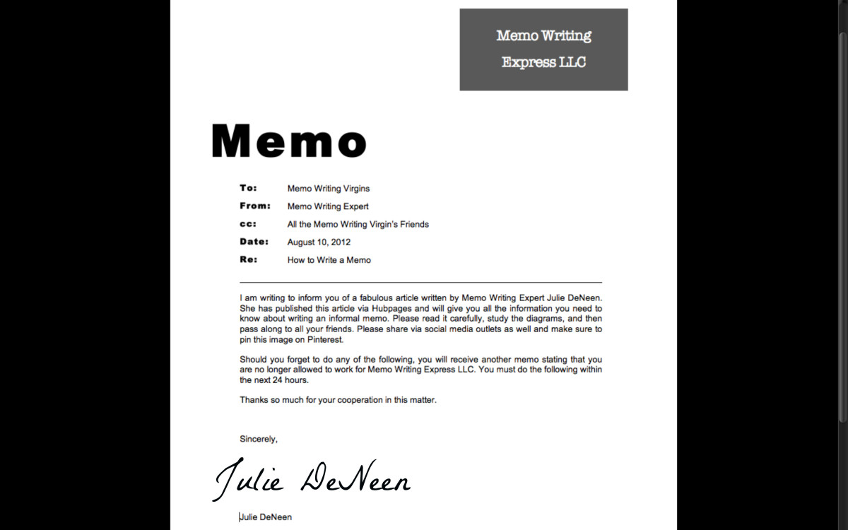 How to Write an Informal Memo ToughNickel