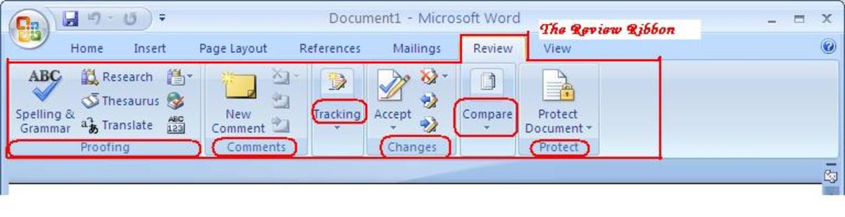 Using the Review Tab of Microsoft Office Word 2007 TurboFuture - microsoft word