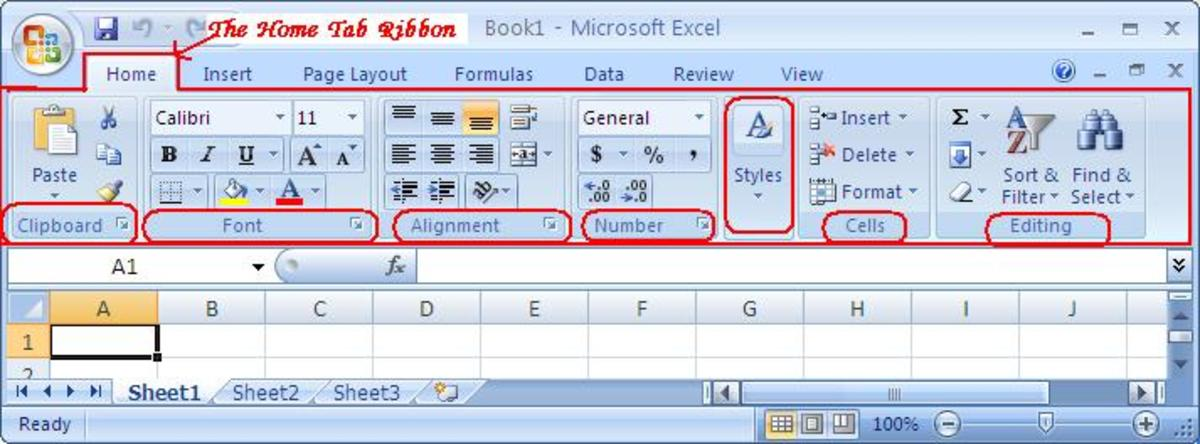 The Home Tab of Microsoft Excel 2007 TurboFuture