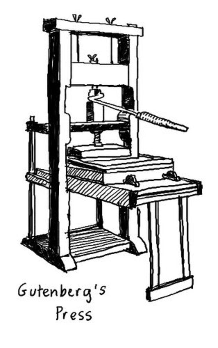 johannes gutenberg printing press diagram printing press from 1811