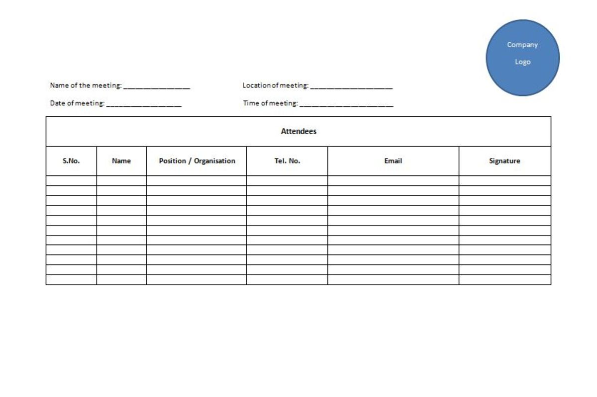 Taking Minutes Part I ToughNickel - minute sheet template