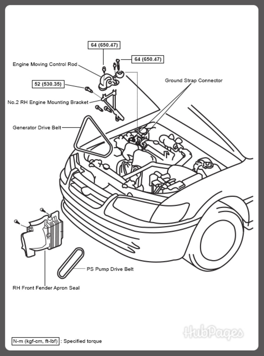 toyota 2l engine pump diagram