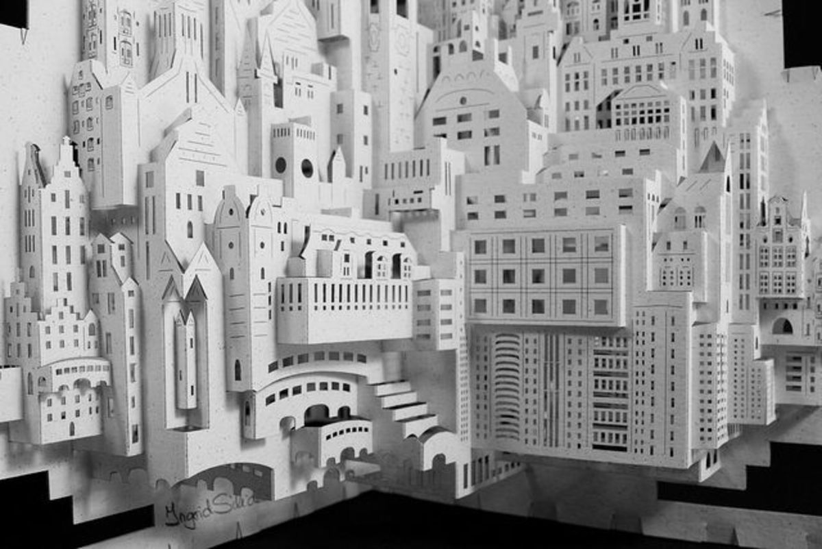 ☆ Origamic Architecture Instructions  Free Kirigami Templates