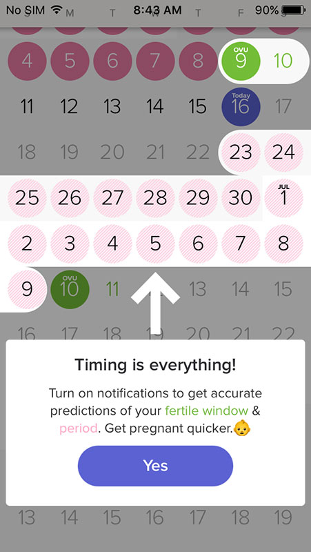 Glow App, a smart and intuitive period, fertility and ovulation