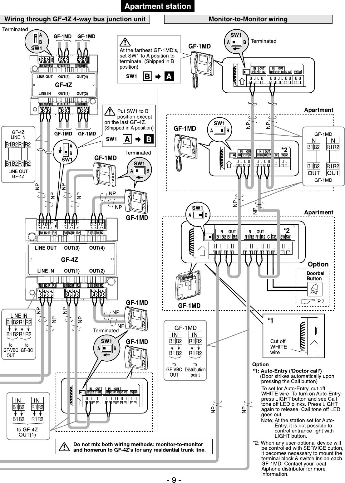 aiphone gf series wiring diagram