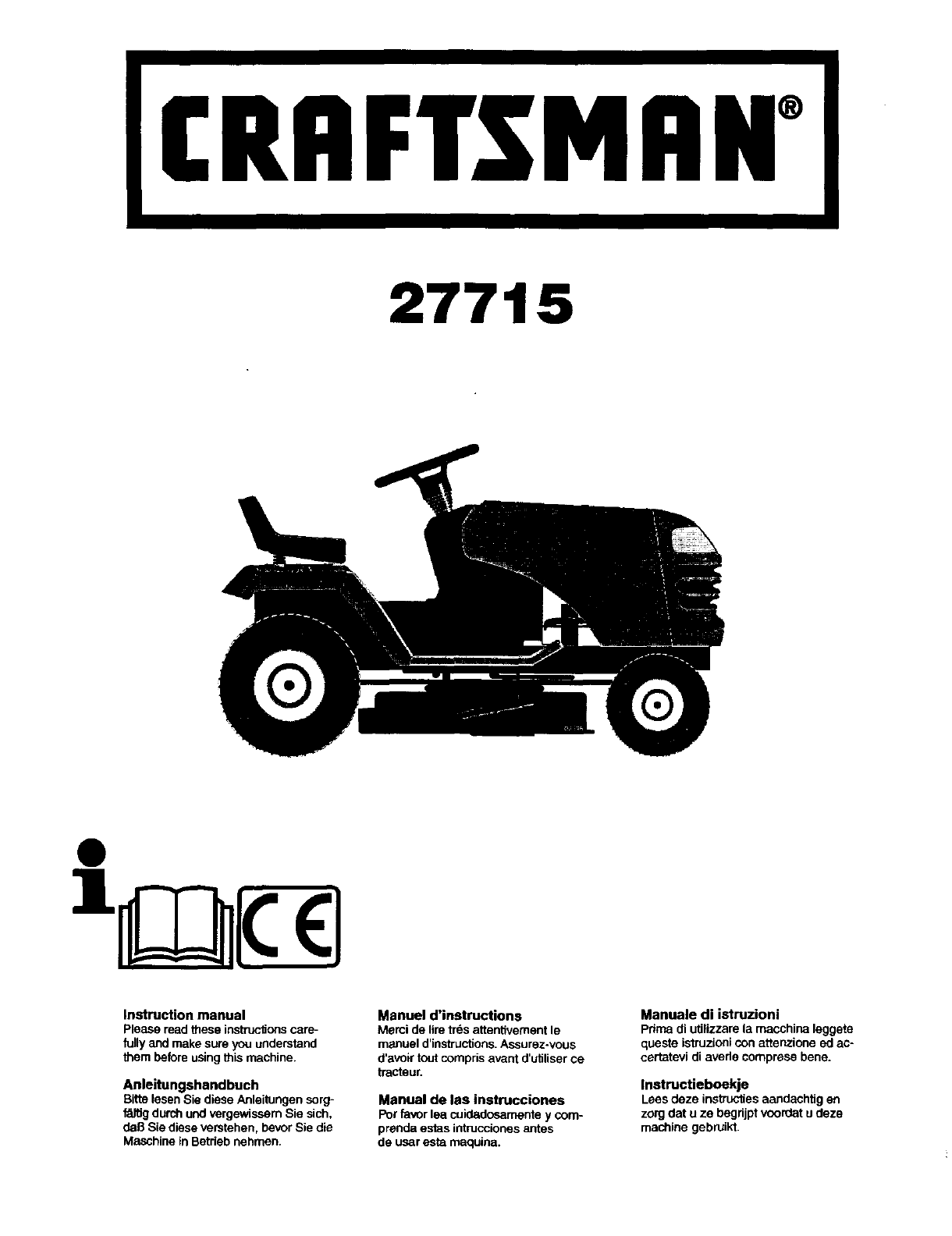 Tl Verlichting Wiki Craftsman 917277152 User Manual Lawn Tractor Manuals And Guides