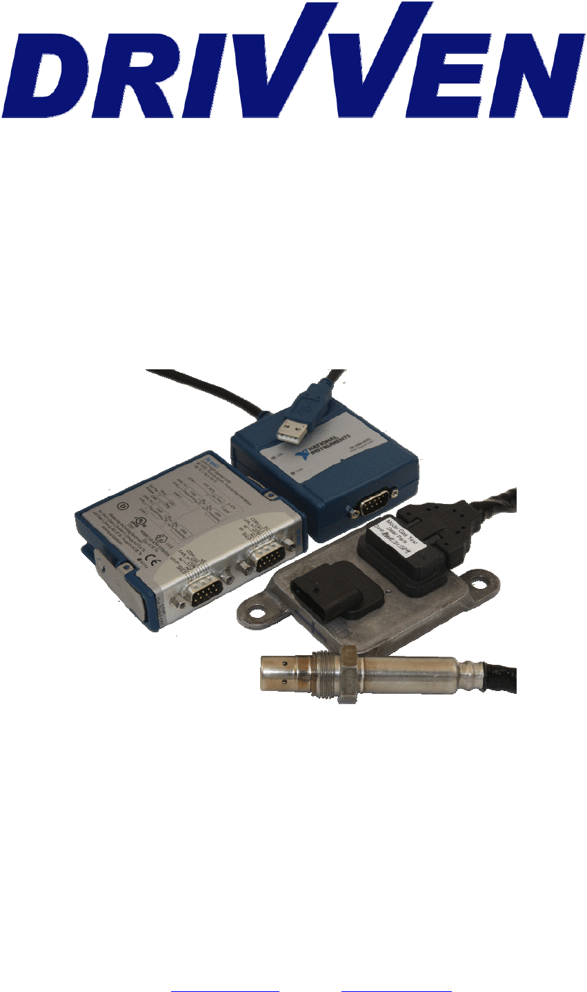 Compactrio System On Module Drivven Nox Sensor Kit For Compactrio User Manual National