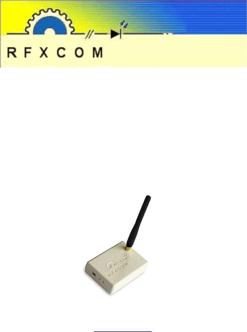 Store Banne Z Wave Rfxtrx User Guide