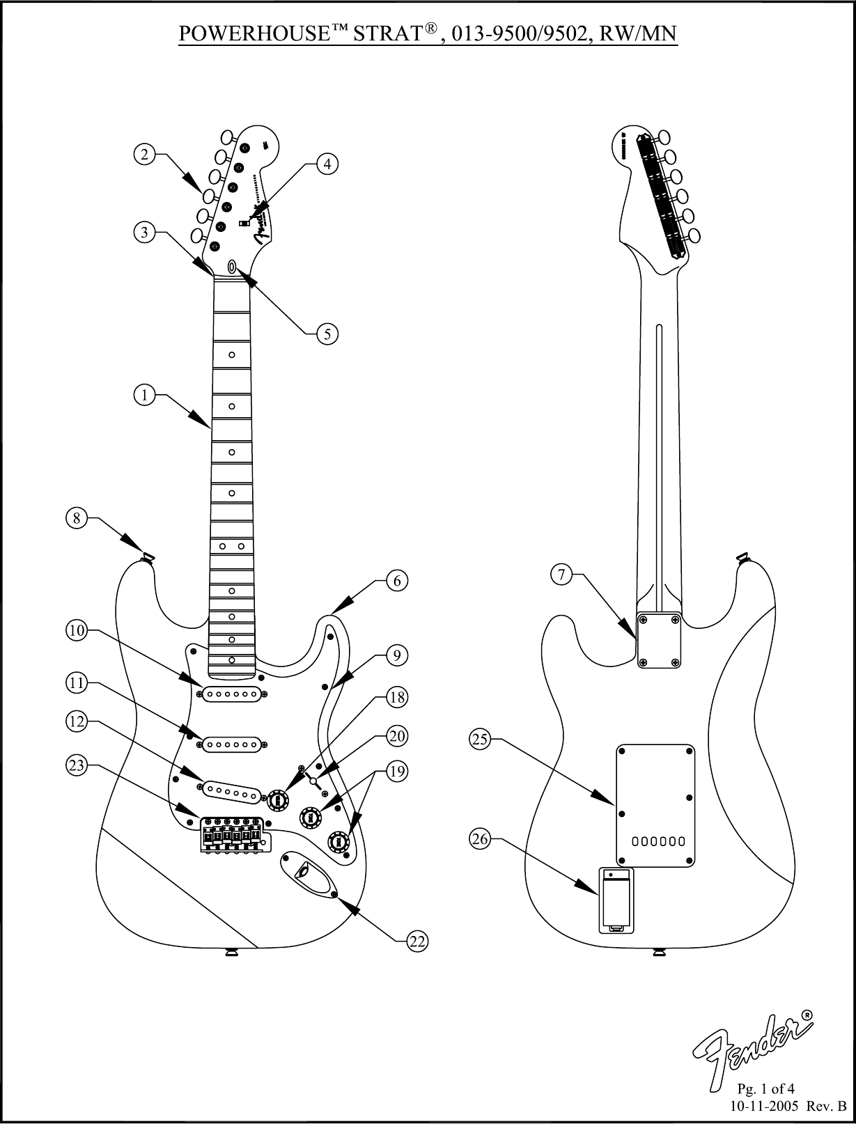 fender powerhouse stratocaster wiring diagram